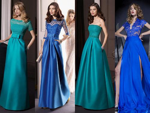 фасоны платьев в пол