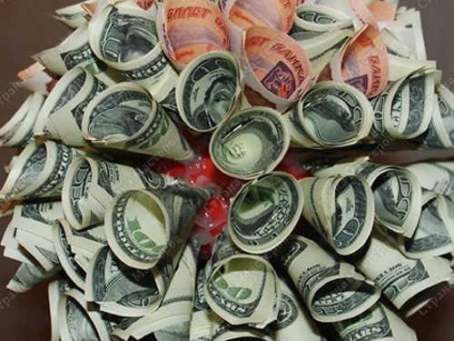 Топиарий из денег своими руками