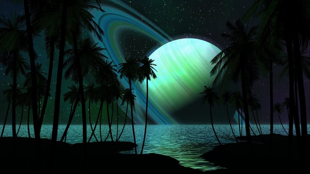 Сатурн в противостоянии с Солнцем 27 июня: как это повлияет на Знаки Зодиака Saturn-planet-palm-trees-sky-wallpaper