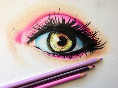 Тест-картинка на определение личности по рисунку глаза