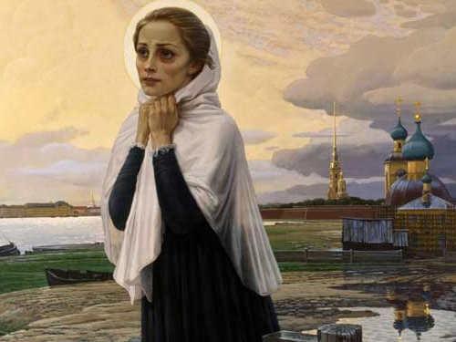 Молитва Ксении Петербургской осемейном благополучии