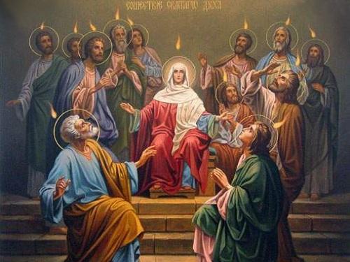 Икона «Сошествие Святого Духа наапостолов»