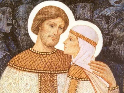 Икона Петра и Февронии