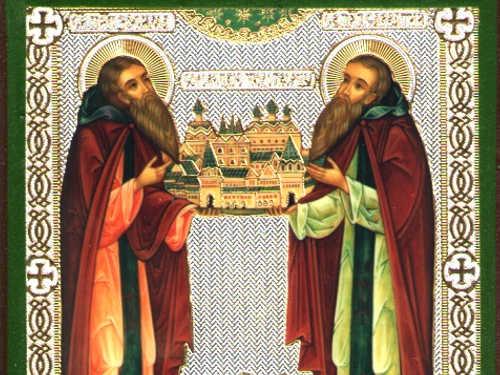 Икона Зосимы иСавватия Соловецких