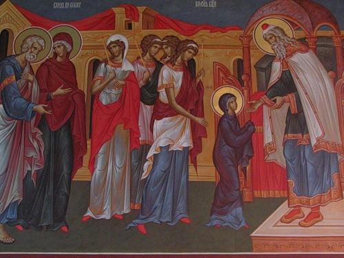 Икона «Введение вохрам Пресвятой Богородицы»