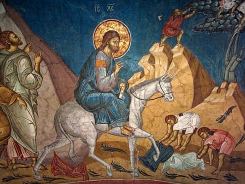 Икона «Вход Господень вИерусалим»