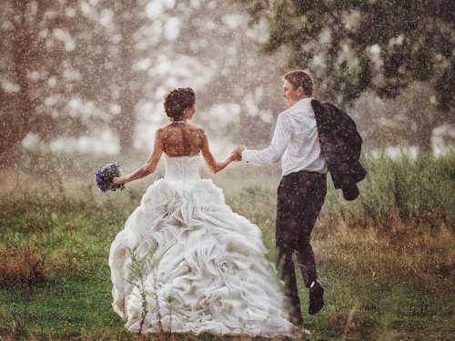 Дождь насвадьбу: что сулит примета